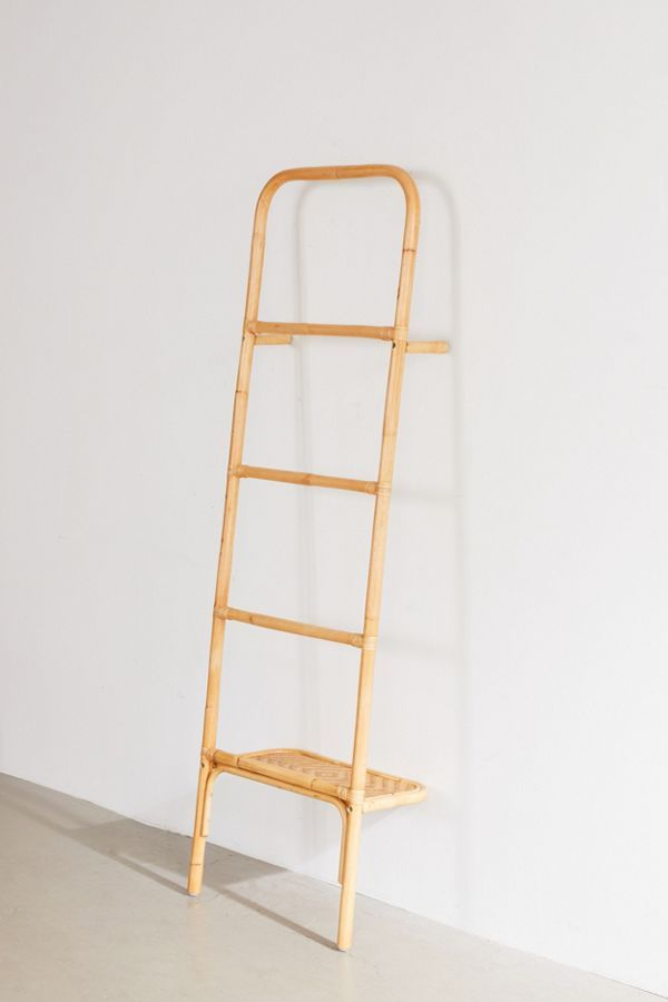 Urban Outfitters Carina Rattan Leaning Accessories Ladder Decor