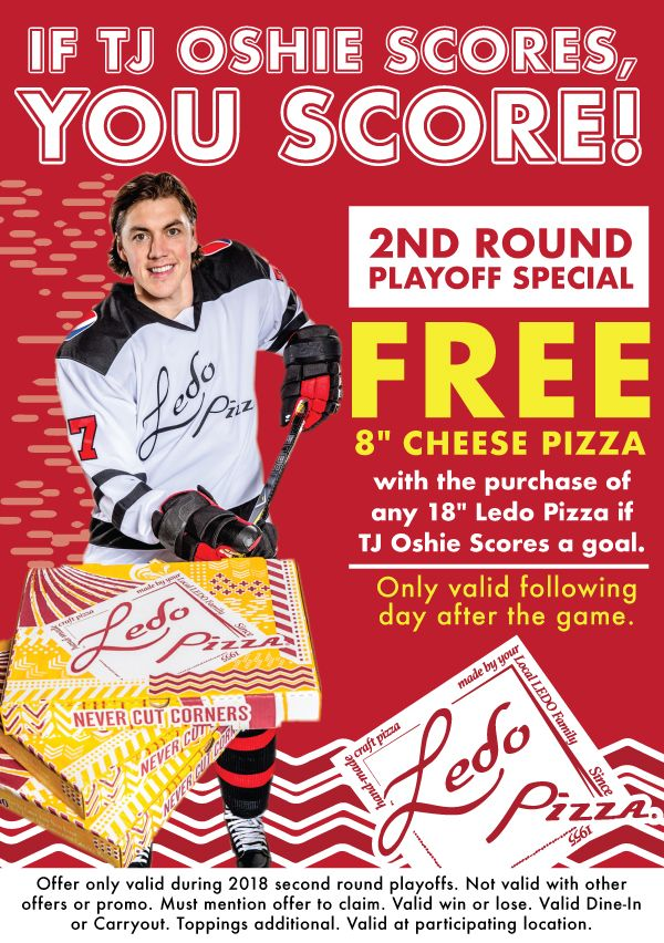 TJ Oshie Carryout Special at Special, Pizza, Reston