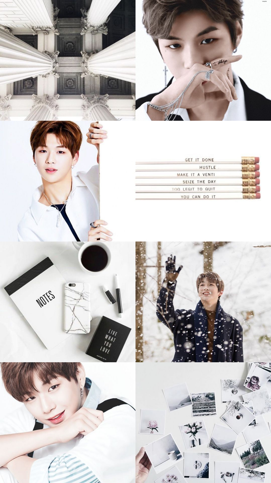 Kpop Aesthetic Collage Requests Closed Wanna One Kang Daniel