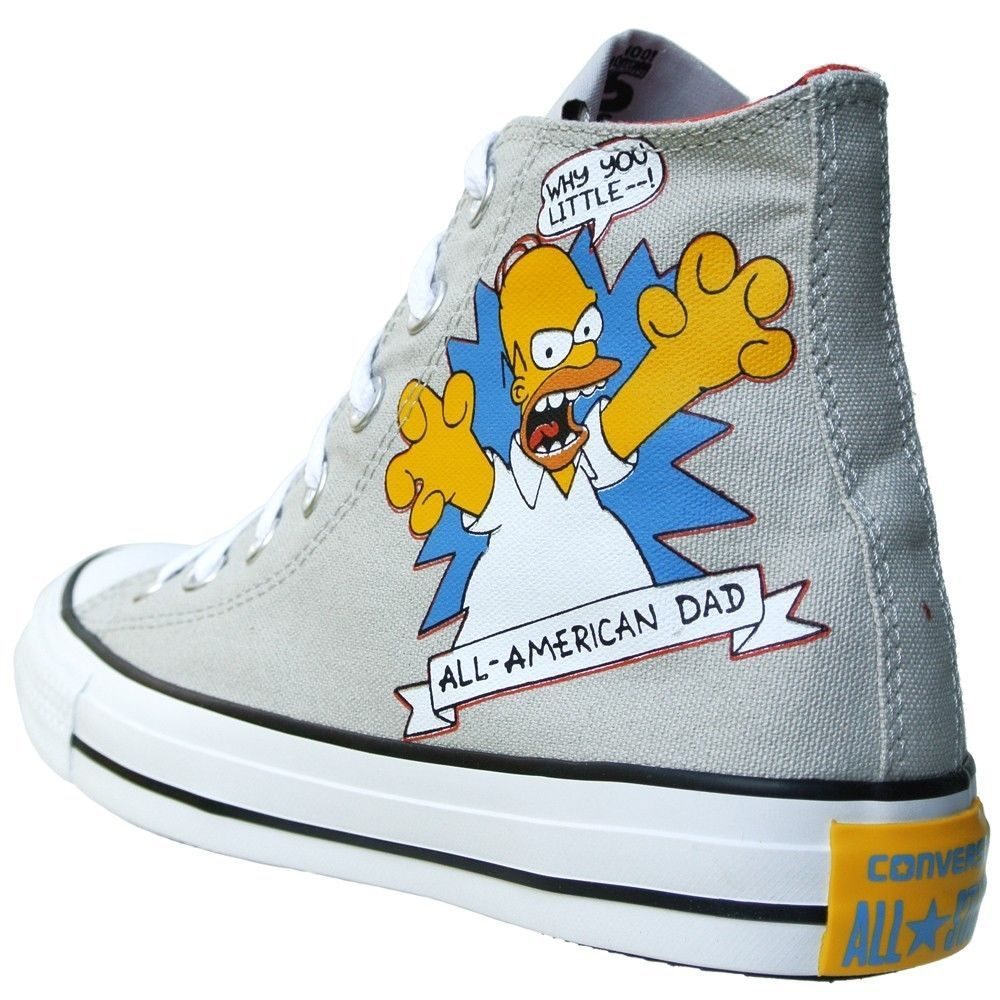 0ea2f2e804eee0 CONVERSE ALL STAR CHUCKS EU 39 UK 6 BART HOMER SIMPSONS GRAU LIMITED EDITION