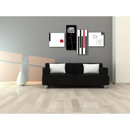 GRECALE - Quadri moderni bianco e nero   Paiting   Pinterest