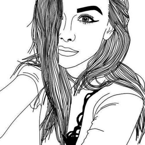 Line Drawing Of Girl Tumblr : Pin von cata auf girls pinterest zeichnung bleistift