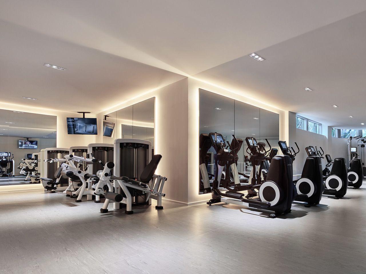 Gallery The Miami Beach Edition Gym Interior Gym Design Gym Lighting