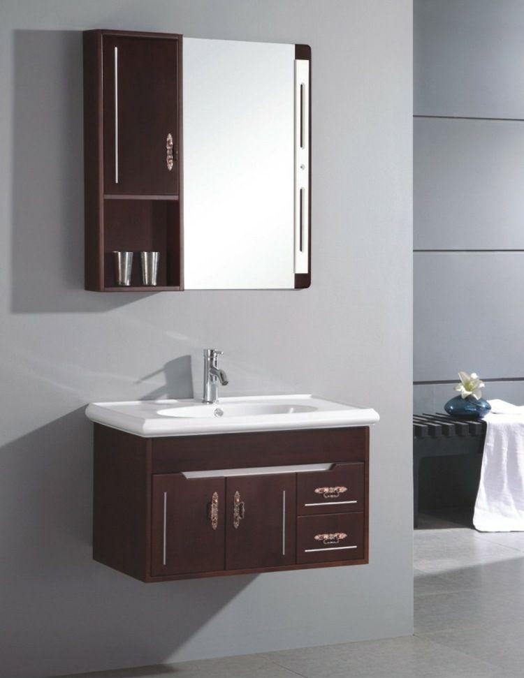 Meuble vasque salle de bain et rangement petit espace en 55 idées
