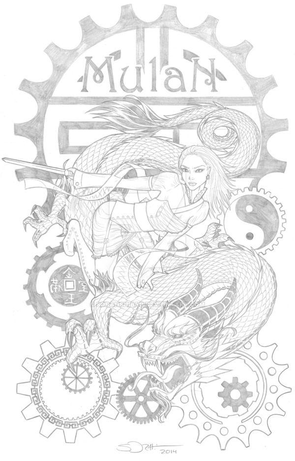 Steampunk Mulan by sorah-suhng   Disney coloring pages ...