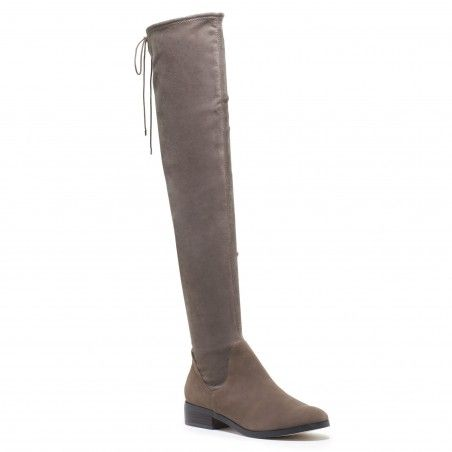 f482ab6a3ef these are the most amazing OTK boots that legit look like a super expensive  designer pair. they re so comfortable and the taupe gray color is a great  ...
