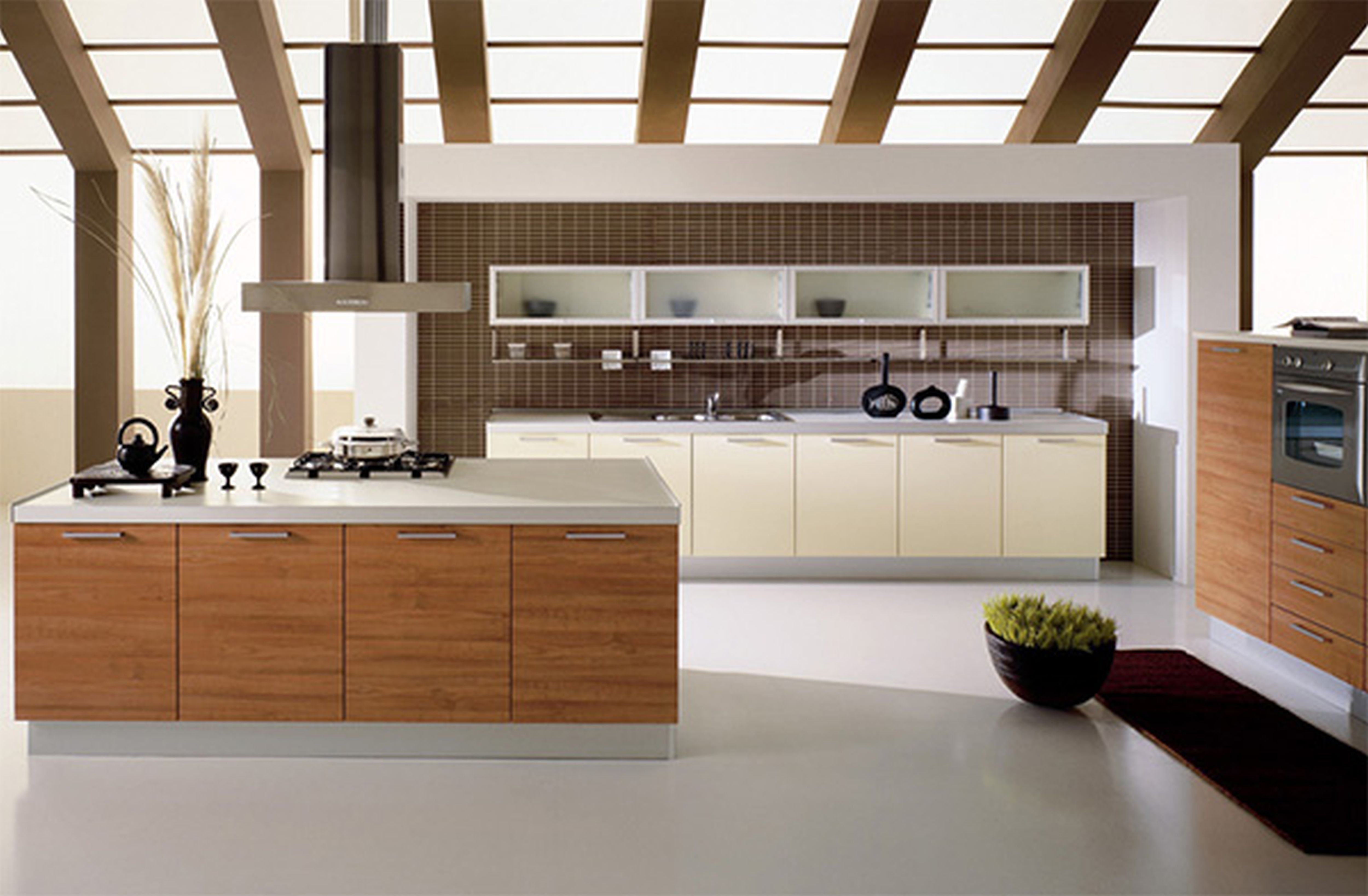 Furniture Kitchen Exquisite Beautiful Contemporary Kitchen Design Green Building Idea