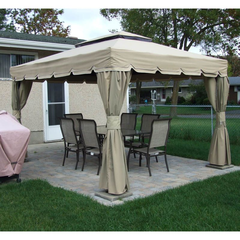 Rona Sojag 10x12 Montego Bay Replacement Canopy And Netting Outdoor Space Gazebo
