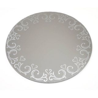 Patterned Round Mirror 12 Inches Round Mirrors Mirror Crafts Centerpieces