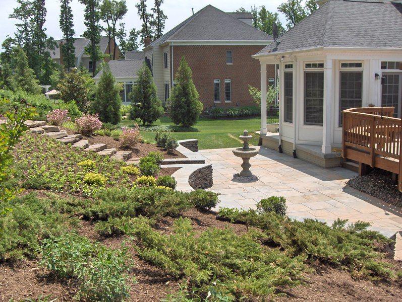 Backyard slope terraced | Backyard landscaping, Hillside ...