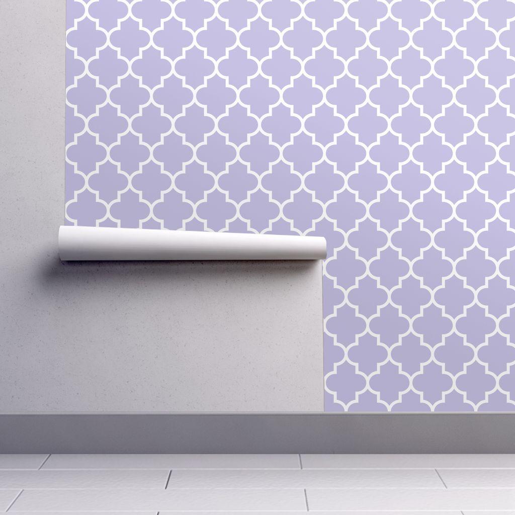 Quatrefoil Lg Light Purple In 2021 Grey Wallpaper Quatrefoil Peel And Stick Wallpaper