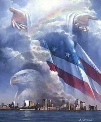 Jesus, flag, eagle | Religious Pics
