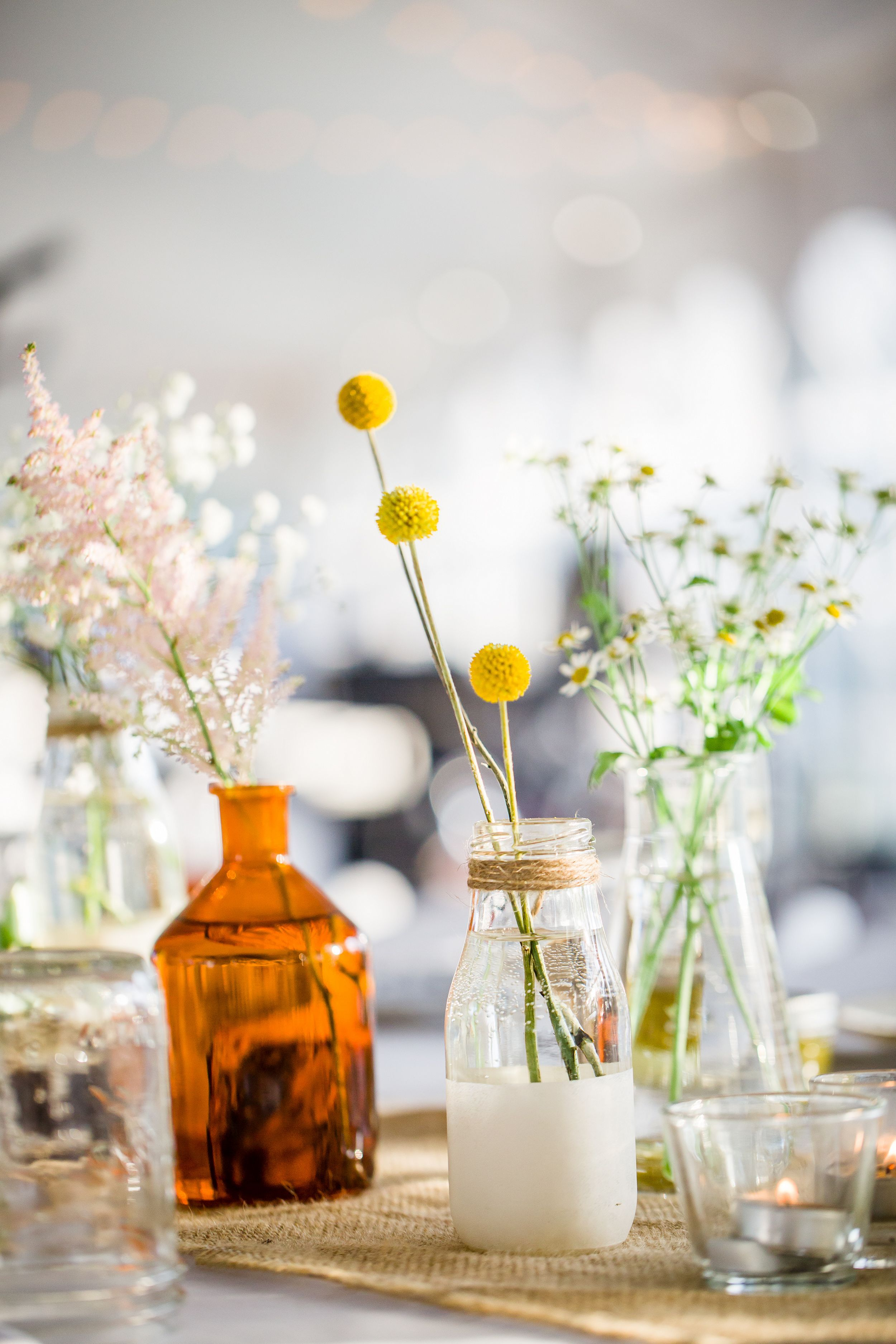 30+ Incredible Milk Bottle Centerpieces For Your Wedding Party ...