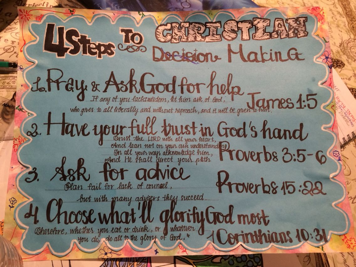 4 Steps to a Christian Decision Making