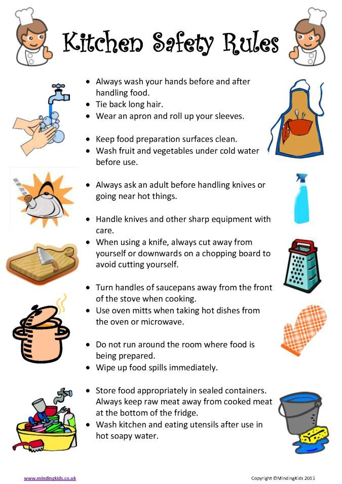 Cooking-Safety-Rules.Png 675×954 Pixels | Child-Proofing Your
