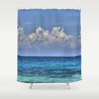 Shower Curtains featuring WATER by 2sweet4words Designs  Maybe?