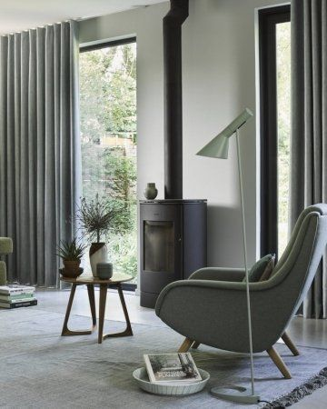 wollen gordijnen licht-grijs | Bureau | Pinterest | 2017 design ...
