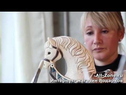 Керамические фигурки, статуэтки - De Rosa Rinconada - Уругвай - YouTube