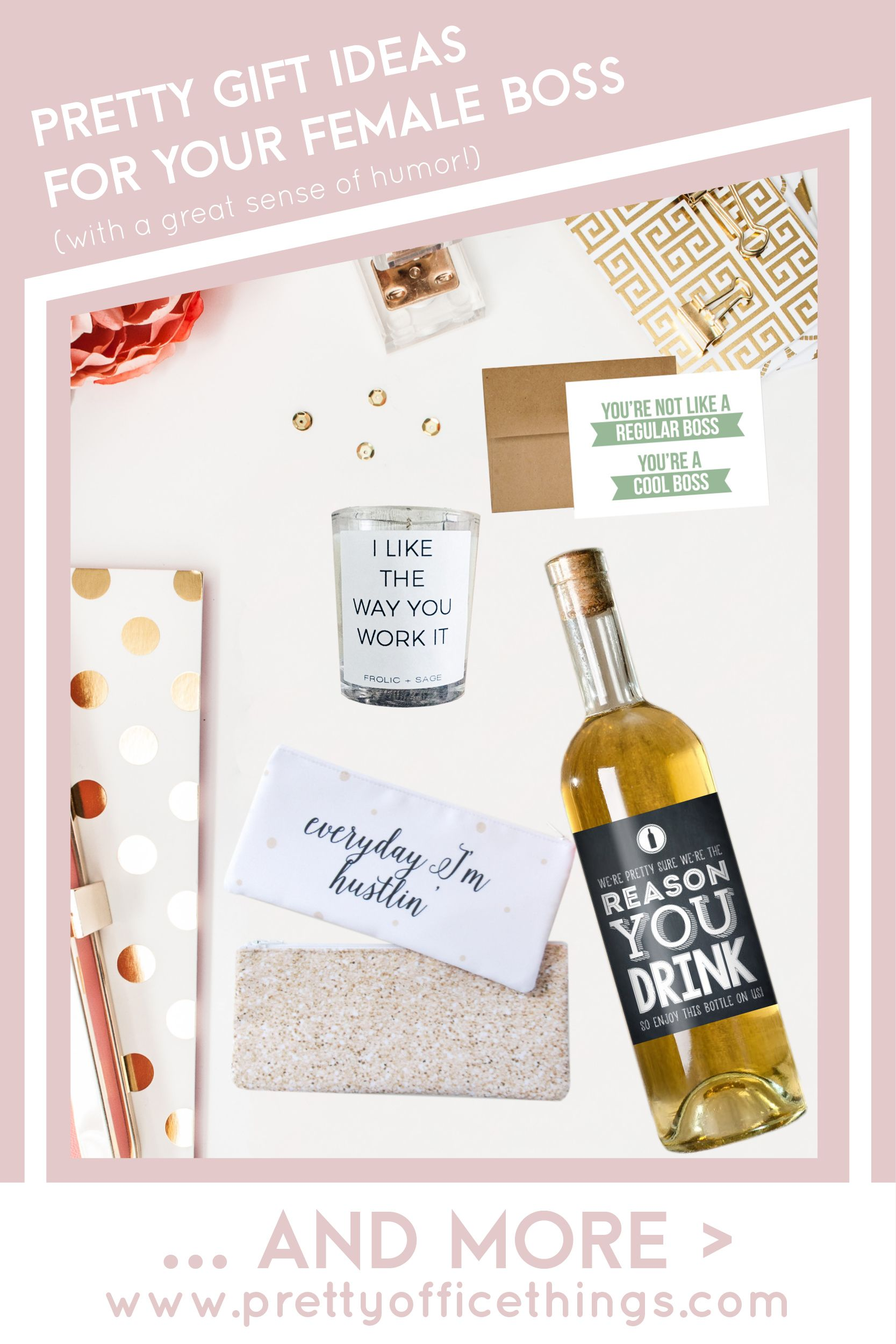 pretty gift ideas for your female boss with a great sense of humor
