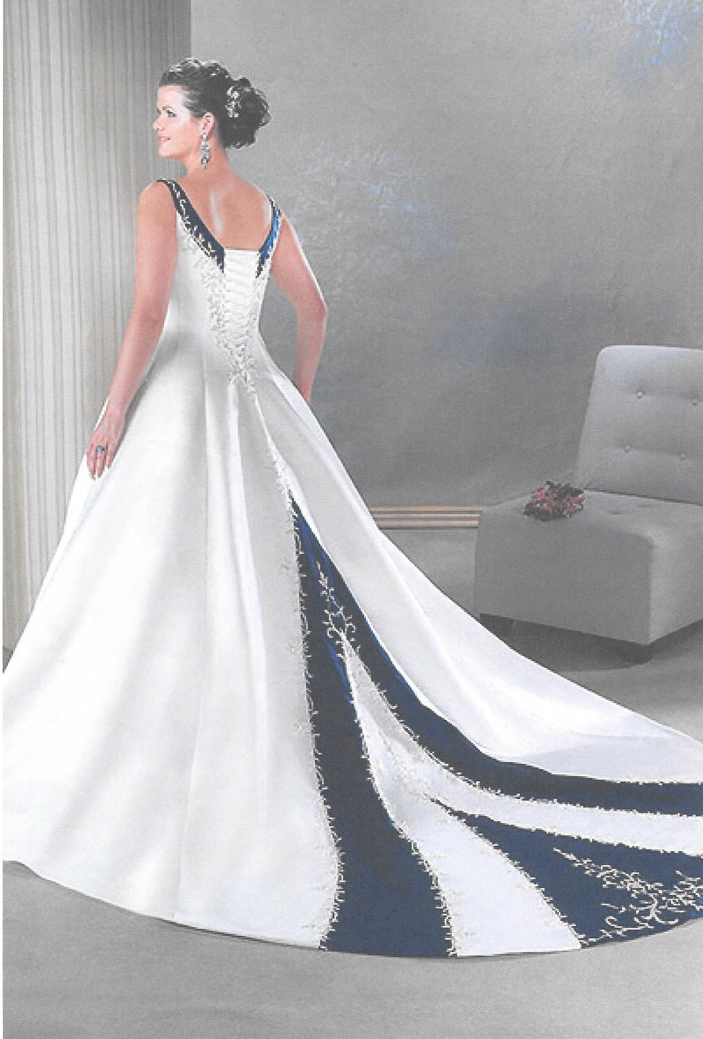 The Back View And I Thought About Getting Victorian Lilac Which Is My Wedding Color I Dec Wedding Dresses Colored Wedding Dresses Wedding Dresses Plus Size