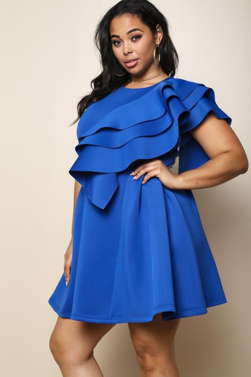 Alina Plus Size Ruffled Dress | Clothes | Dresses, Trendy ...