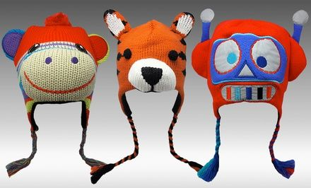 Boy's and Girl's Animal Hats. Multiple Options Available. Free Returns.