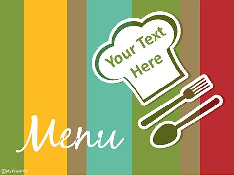 Free Restaurant Menu Powerpoint Template Powerpoint Slides