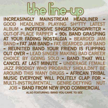 ACL LINE-UP...every year