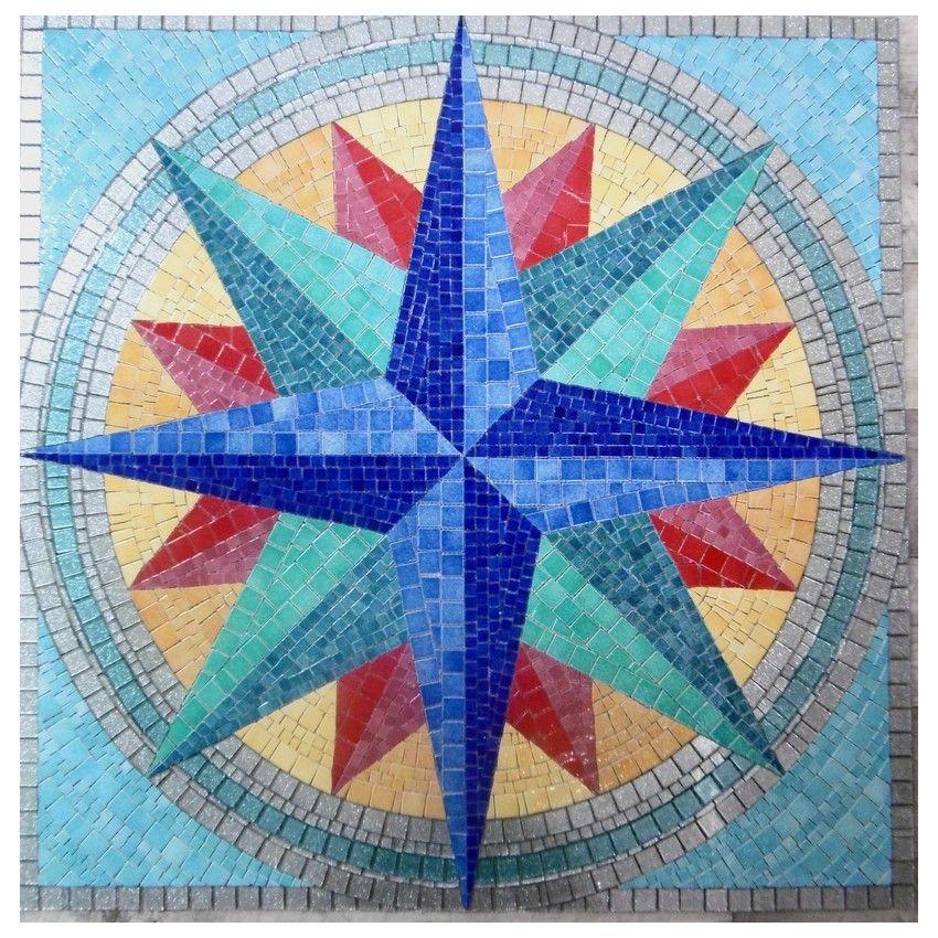 Piscine Decor Mosaique Rose Des Vents