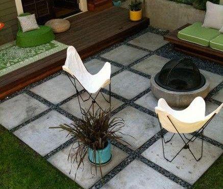 El momento de disfrutar afuera baldosas de cemento for Baldosones para patio