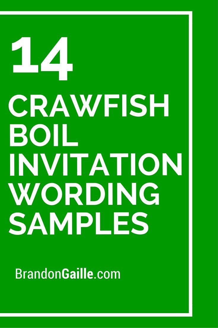 14 Crawfish Boil Invitation Wording Samples Birthday Dinner Invitations