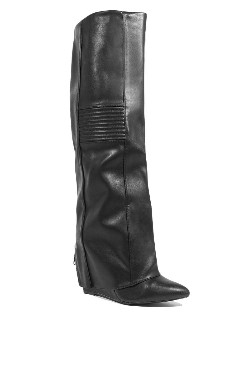 3ac54c0f035 Black Wedge Boots