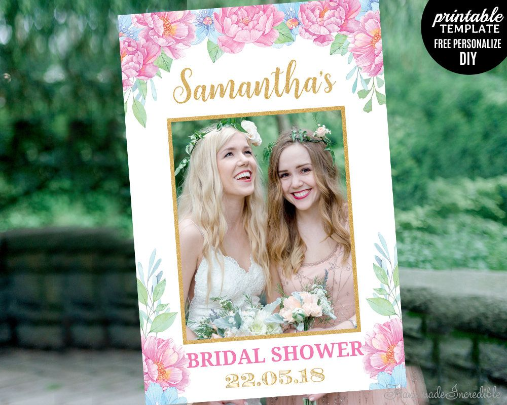 Bridal shower photo booth frame photo props Wedding photo props Bridal Shower Photo Prop Baby Shower Photo Prop Frame Shower photo Prop