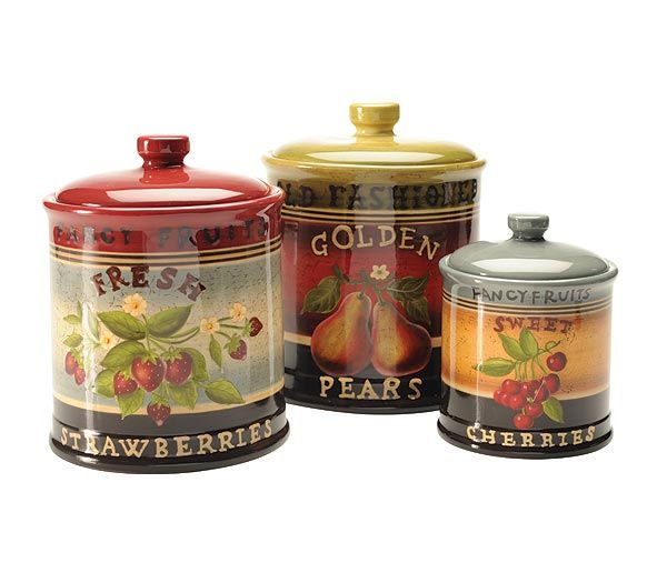 Country Kitchen Canisters Canisters Set The Country Porch
