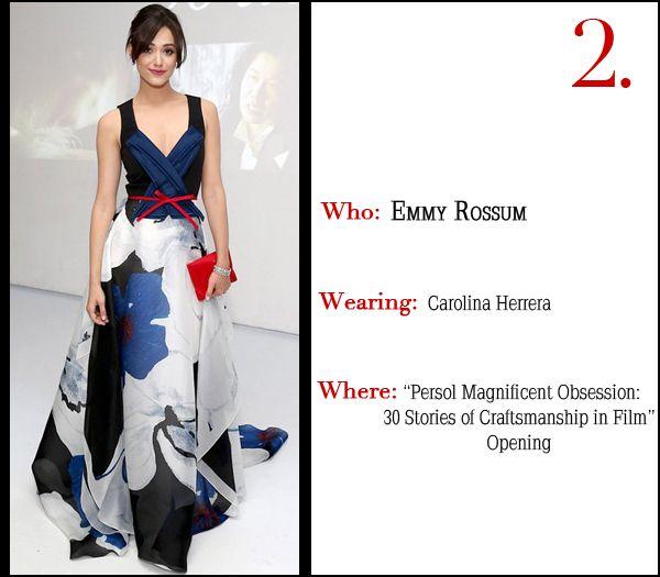 Best Dressed This Week - Emmy Rossum in Carolina Herrera
