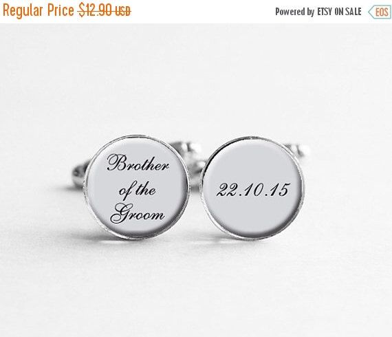 Cuff links for Brother of the Groom