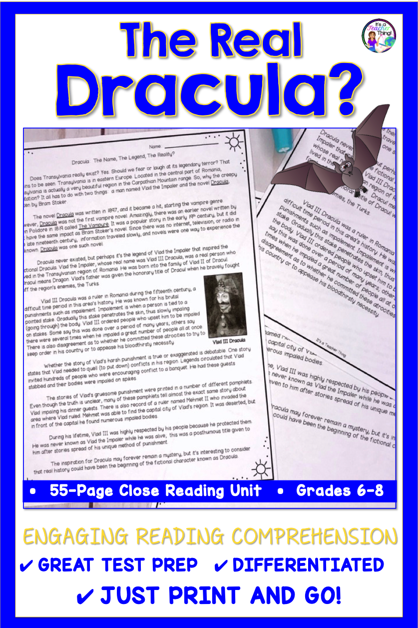 - Reading Comprehension Passage And Questions Dracula (With Images