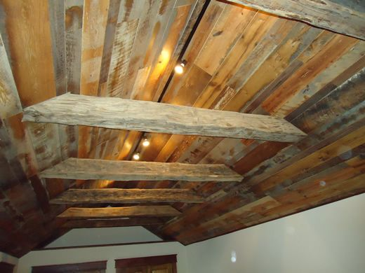 Boards On A Vaulted Ceiling Barn Wood Wood Barn Siding
