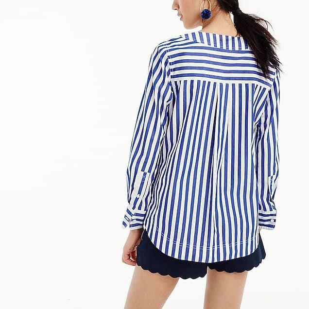 275e03ebfd Tunic in bold stripe cotton poplin | SS '19 - woven tops