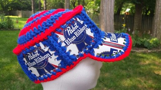 c82398e96be Beer can crochet hat Fishlipsthemadhatter on facebook