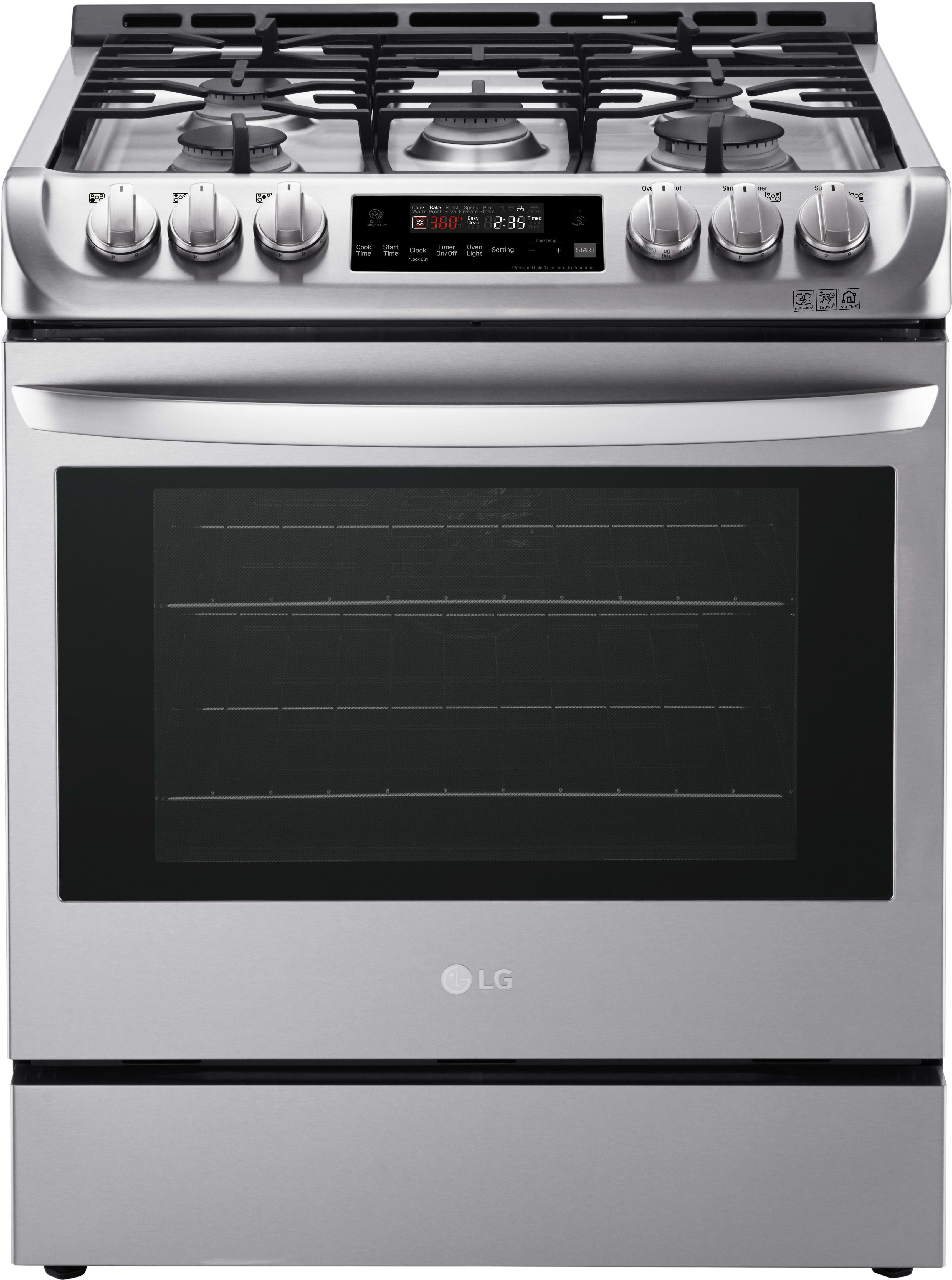 Lg Lsg4511st 30 Inch Gas Slide In Range With 6 3 Cu Ft Capacity