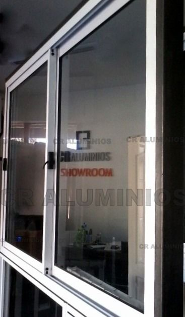 Ventana Aluminio Blanca Vidrio Entero 1 50 X 1 10 Ventanas