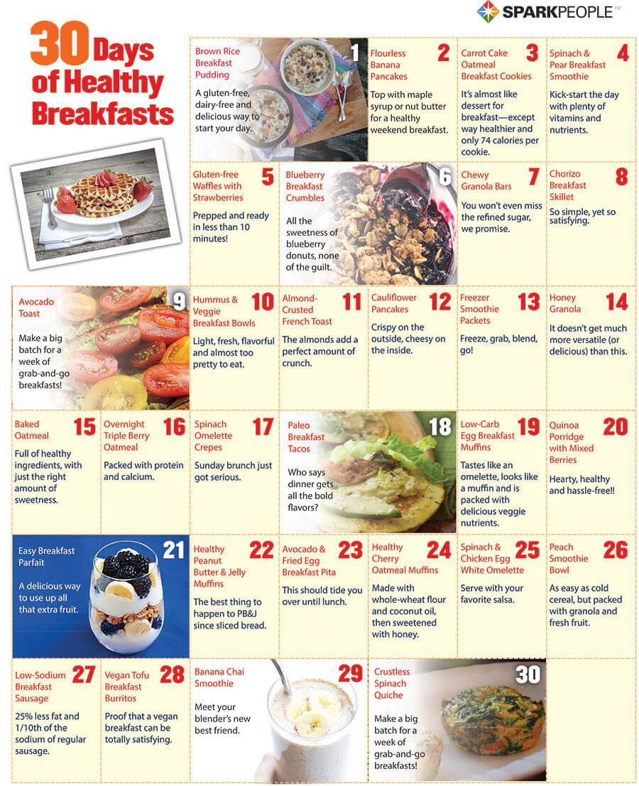30 days diet menu
