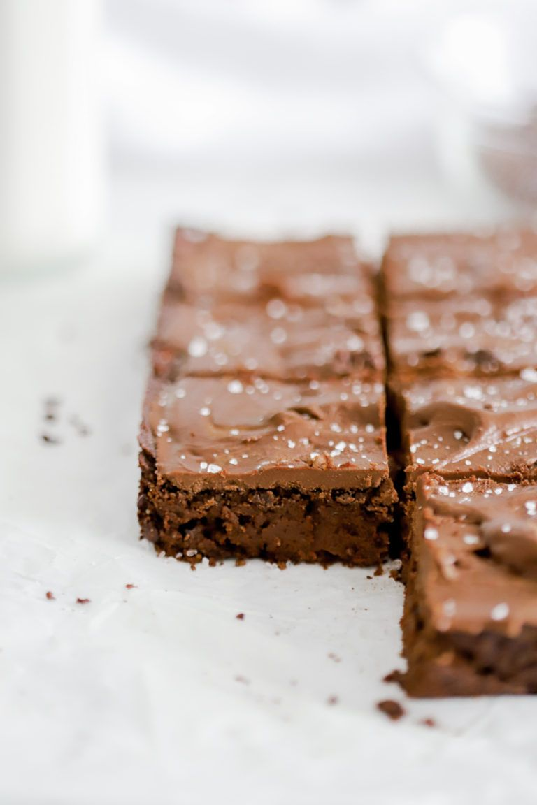Double Chocolate Sea Salt Fudge Brownies Basicswithbails Com In