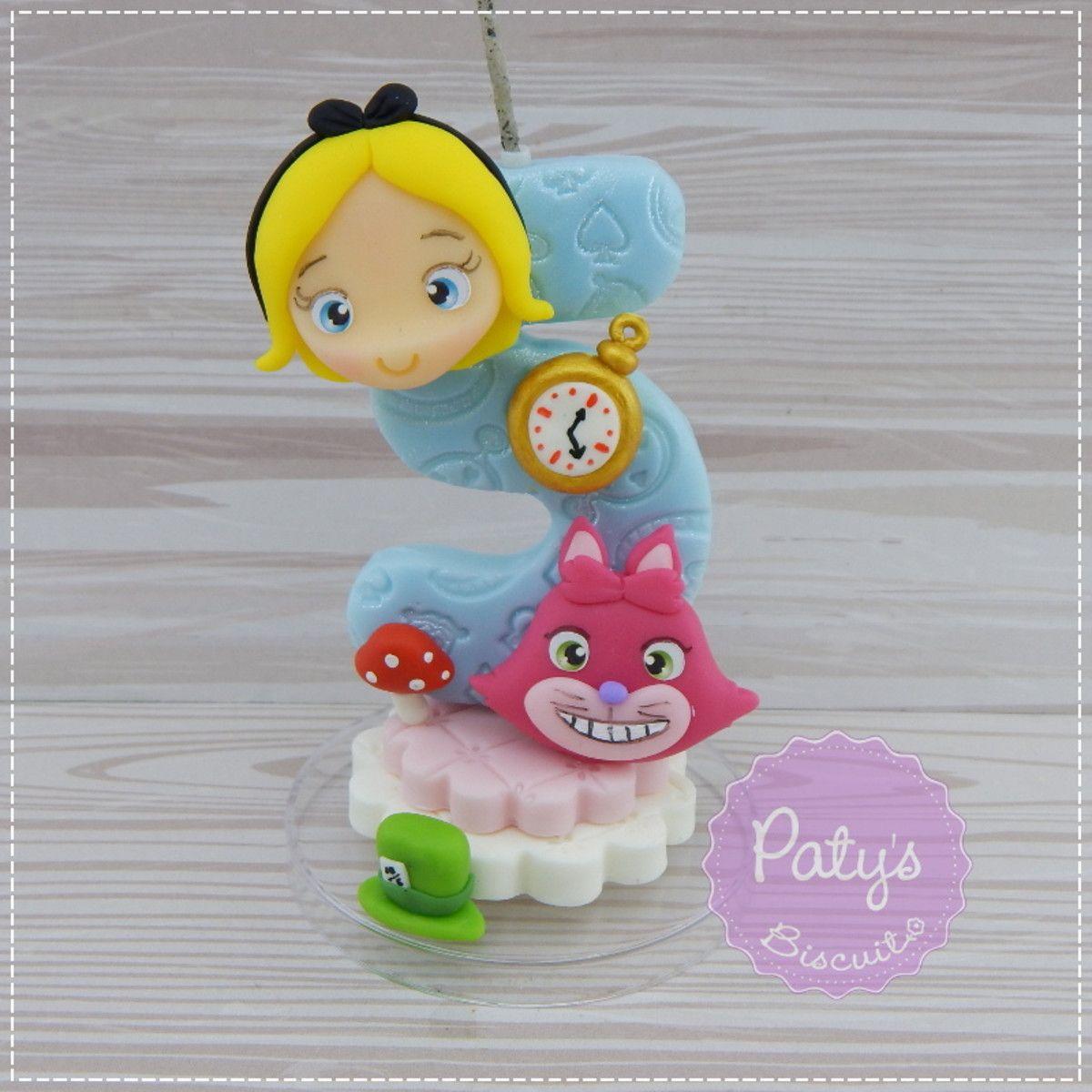 Vela Decorada Alice No Pais Das Maravilhas Alice No Pais Das