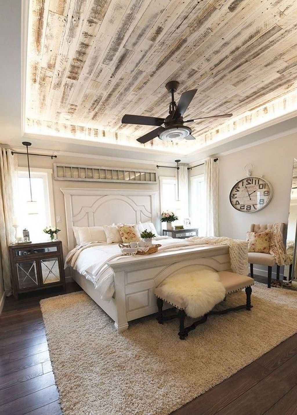 42 Romantic Rustic Farmhouse Bedroom Design And Decorations Ideas