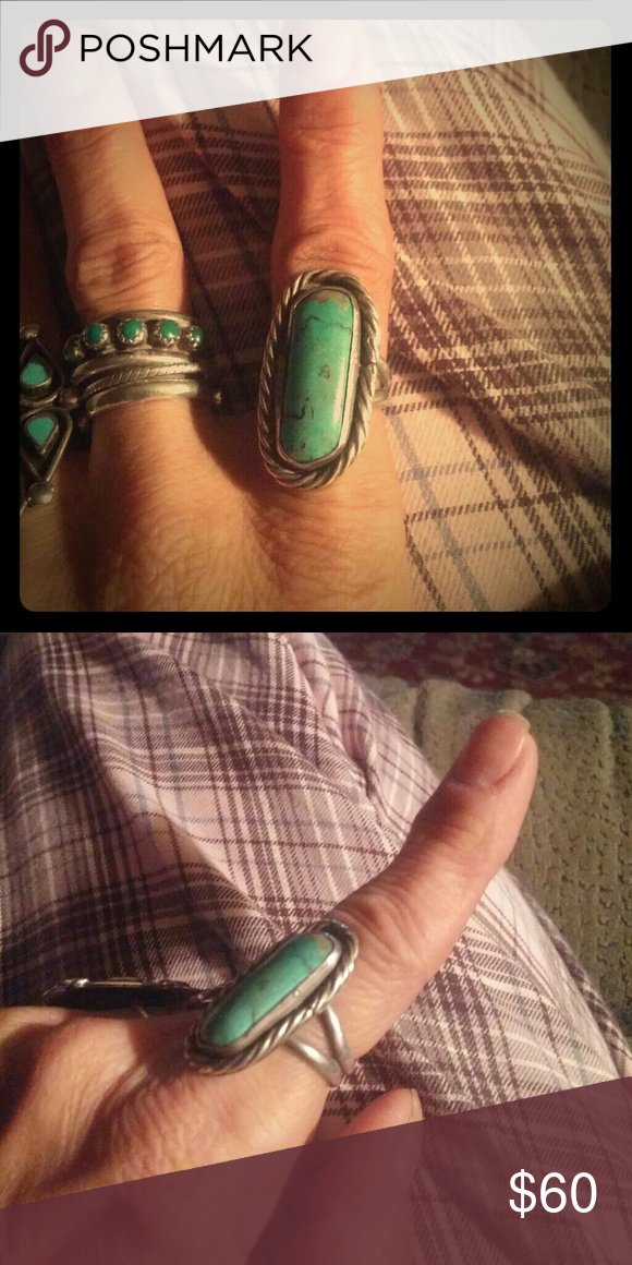 Spotted while shopping on Poshmark: Sterling silver turquoise ring! #poshmark #fashion #shopping #style #Jewelry