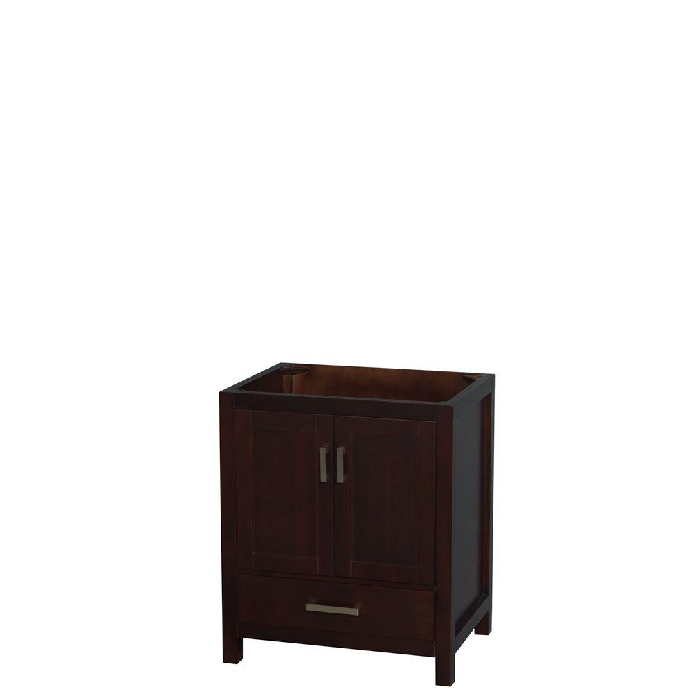 Wyndham Collection Sheffield 30 In W X 22 In D Vanity Cabinet In Espresso Bathroom Vanities Without Tops Bathroom Vanity Base Bath Decor