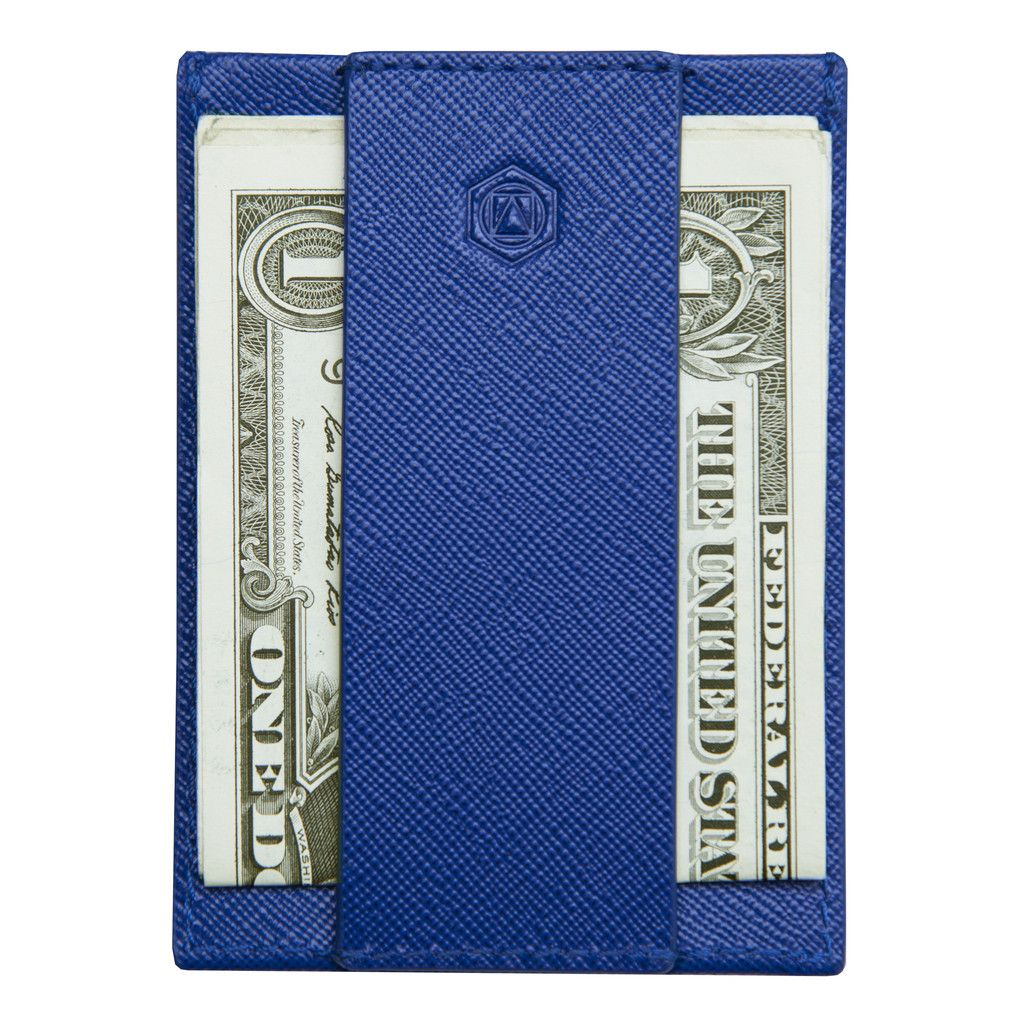 CashStrap Capsule Wallet - Might be the next wallet I get for Drew :) Comes in black, brown and grey leather as well.
