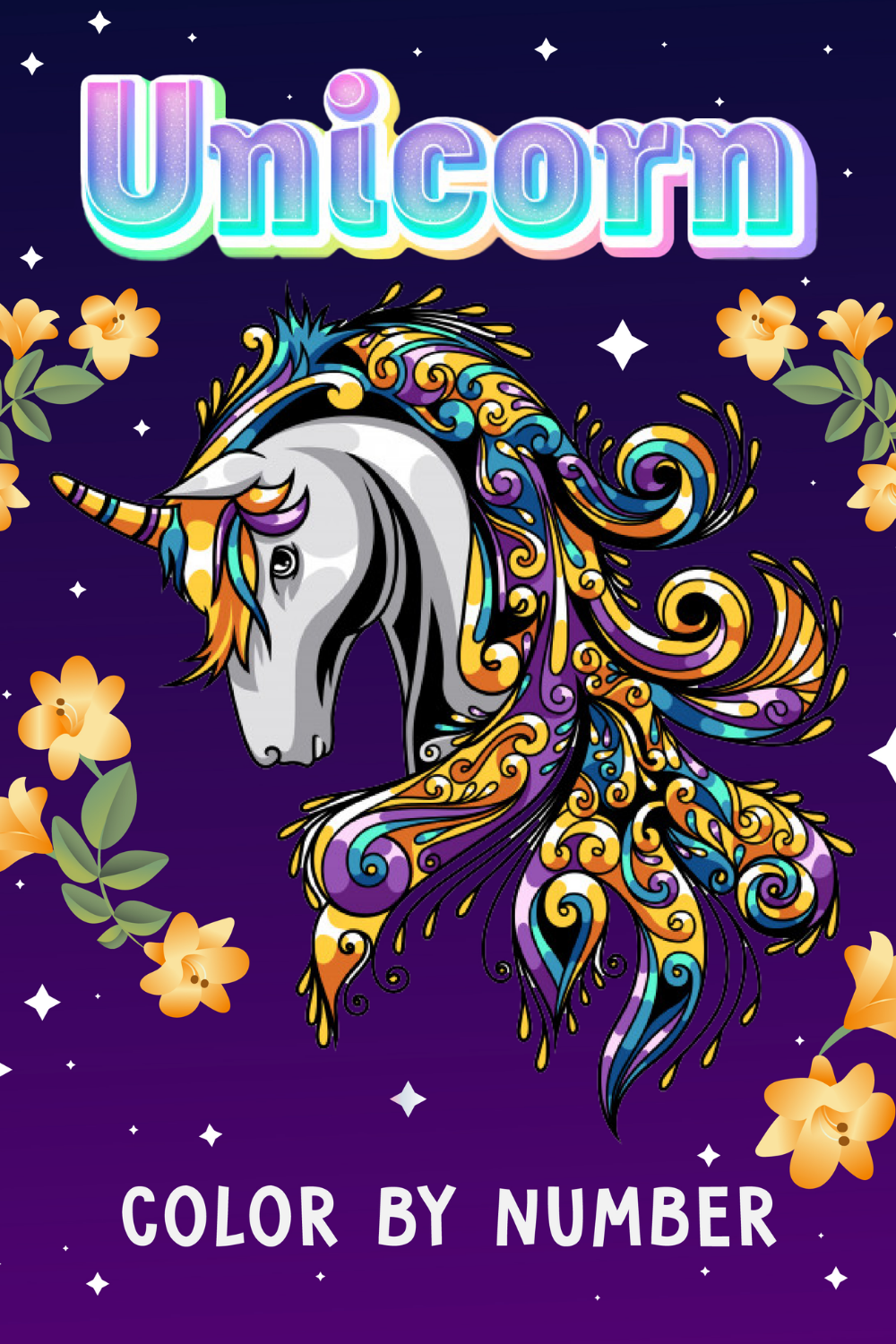 Unicorn Color By Number For Kids Ages 4 8 In 2020 Unicorn Coloring Pages Coloring Books Beautiful Unicorn